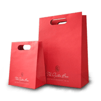 red the oyster box paper bags with cut out handles