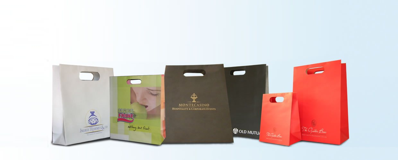 various branded paper bags
