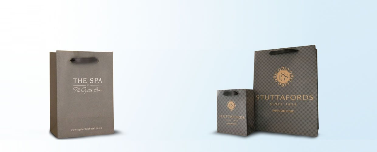 branded paper bags banner