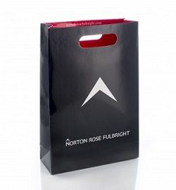 Black and red Norton Rose Fulbright Branded Bag