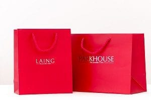 red Parkhouse by Laing Branded Gift Bag