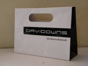 david downs black and white bag