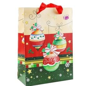 decorative festive paper bag