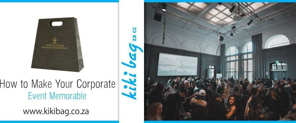 Corporate event filled with people